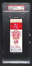 1976 WORLD SERIES GAME 4 TICKET CINCINNATI REDS CLINCH WIN 4TH WS TITLE PSA