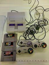 SUPER NINTENDO SNES Console Bundle Lot w/3 Games, 3 Controllers!  Yoshi Island