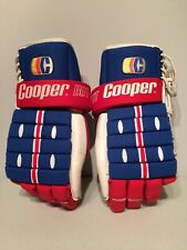 """Vintage Cooper BDT w Armadillo Thumb Protection Pro Hockey Gloves 14"""" w Laces"""