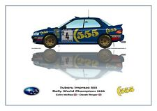 Greetings card Subaru Impreza 555 1995 #4 McRae / Ringer WC Version 1