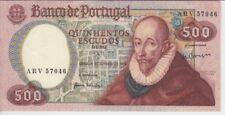 PORTUGAL BANKNOTE P177 CH11-7046 500 ESCUDOS 1979 , PREFIX ARV, XF