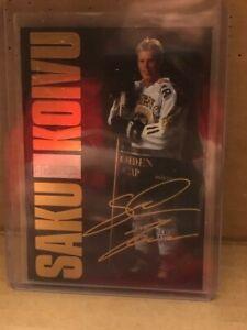 1994-95 LEAF FINLAND SISU SAKU KOIVU SIGNATURE GOLD AUTOGRAPH....SUPER RARE !!!