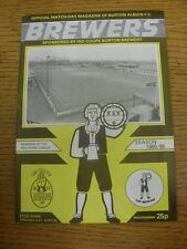 22/03/1986 Burton Albion v Buxton  (folded, team changes). Unless previously lis