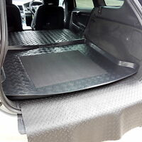 3pc LDPE boot liner tray rubber load mat or bumper protector Volvo XC60 2008+