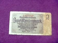2 rentenmark 1937 banknoten Germany bankote