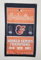 Baltimore Orioles World Series Banner 3x5 Ft Flag Man Cave Decor MLB Baseball