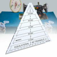 Acrylic Triangle Quilting Patchwork Ruler Original Scale Tailor Maker Ruler Tool