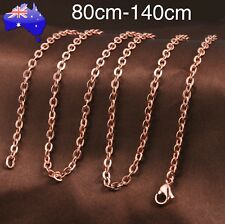80cm-140cm Rose Gold Chain Necklace for Harmony Ball Pendant Angel Caller Locket
