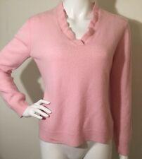 Ralph Lauren Sweater Women's Pink 100% Cashmere Pullover Sweater Size P/M