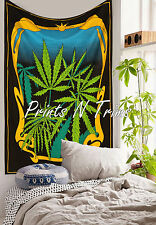 Multicolor Marijuana Leaf Weed Tapestry Cannabis Gypsy Decor Hippie Wall Hanging