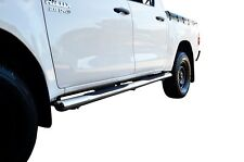 Stainless Running Side Step Bar Board for Toyota Hilux 15-18 MK8 Dual Cab