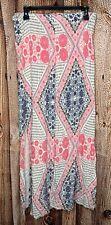 Roxy Full Length Slit Maxi Skirt/Pants Boho Floral Pink White Black Women's M