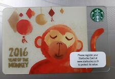 Starbucks Thailand 2016 Year of the Monkey Special Edition Gift Card with Sleeve