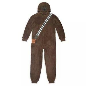 Disney Store Star Wars Chewbacca Men's Costume Bodysuit Pajamas Sleepwear Size L