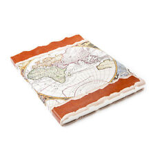 81stgeneration Notebook Mapa del Mundo Eco Diario Vintage Atlas Papel reciclado