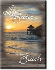 """2"""" X 3"""" Life Is Better At The Beach Refrigerator Magnet New"""