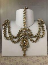 Gold headpiece matha patti tikka hijab boho grecian bridal hair chain party prom