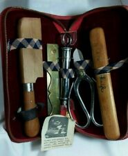 Vintage Japanese Bonsai 5 Piece Tool Kit in Case