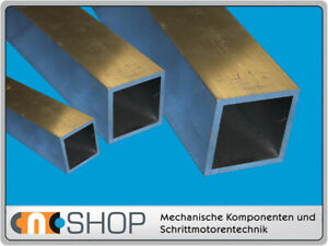 Aluminium Formrohr quadratisch 120 x 120 x 5 mm, Alu Vierkantrohr, je 100 mm