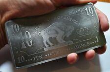 More details for titanium bullion bar. 10 troy ounce. buffalo bar. investment. .999 fine ti. new.