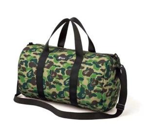 Bape A Bathing Ape Camo Shoulder Bag Green Travel Gym Sport Duffle Handbag New