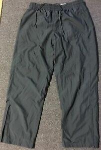 Vtg 90s Nike Track Pants XL Black Sport Ankle Zip Athletic Running Baseball