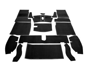 Replacement Black Car Carpet Set - High Quality (to fit MG Midget 1968-1980)