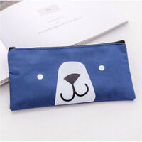 Cute Cartoon Bear Oxford Pen Pencil Bag Case Stationery Storage Zipper Pouch LD