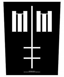 Marilyn Manson Cross Logo giant sew-on back patch   360mm x 300mm  (rz)
