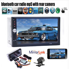 7'' 2Din Car Radio Touch Screen MP5 player Stereo Bluetooth FM/AUX/USB/SD+Camera