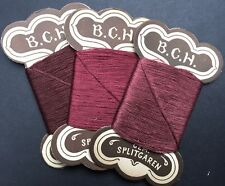3 cards Vintage German Cotton Thread - Gorgeous Berry Colours..