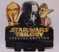 Vintage 1997 STAR WARS MOVIE TRILOGY MOVIE STORE DISPLAY DARTH VADER YODA C-3PO