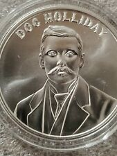 Doc Holiday 1 oz .999 silver round Wild West Wyatt Earp New! Gun slinger colt 45