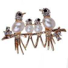 Broschen und Anstecknadeln aus Gelbgold mit Perlen