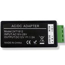 AC 24V To DC 12V 1.5A Power Supply Adapter Converter For CCTV Camera 24T1812