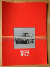 HONDA JAZZ orig 1984 UK Mkt Sales Brochure