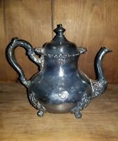 Stunning Antique Pairpoint Mfg. Co. Quadruple SilverPlate Tea Pot