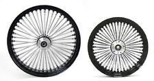 "FAT SPOKE 23 & 16"" BLACK WHEELS FRONT/REAR HARLEY ELECTRA GLIDE ROAD KING STREET"