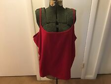 Women's Plus Size Red Knit Camisole by Lane Bryant ~ Size 22/24