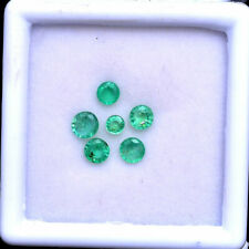 1.55 Cts Natural Emerald Colombian Round Faceted Cut Untreated Finest Gemstones