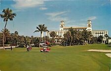 Palm Beach FL~Breakers Holtel and 10th  Green~Golf Carts, Course~1967