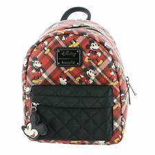 Loungefly X Disney Mickey Mouse Plaid Nylon Pocket Mini Backpack
