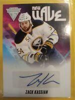 Zack Kassian 2011 12 Titanium New Wave Autograph Rookie Buffalo now Edmonton