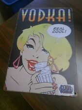 Metal reproduction Sign Vodka Real Cool With Blonde Lady