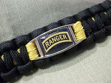 Custom U.S. Army Ranger LEAD THE WAY 500lb Paracord Key Fob w/ 220lb Carabiner