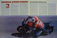 Yamaha 550 XZ550RJ Vision  Motorcycle  Test Article 1982 XZ550 RJ