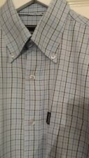 "MENS ROCKPORT CHECK SHIRT,80'S CASUALS,MEDIUM,23""PTP,BLUE,STUNNER"