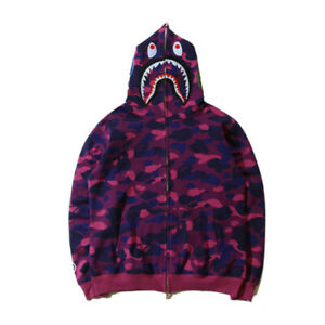 Hot Camouflage A Bathing Ape BAPE Coat Full Zipper Jacket Hoodies Sweatshirts