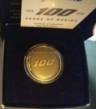 Boeing Centennial Celebration 2016 Bronze Color Numbered Coin with Certificate