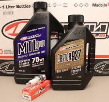 Honda CR250 Tune Up Kit Maxima Oil Castor 927 NGK BR8EG 3130 Plug CR 250 CR250R